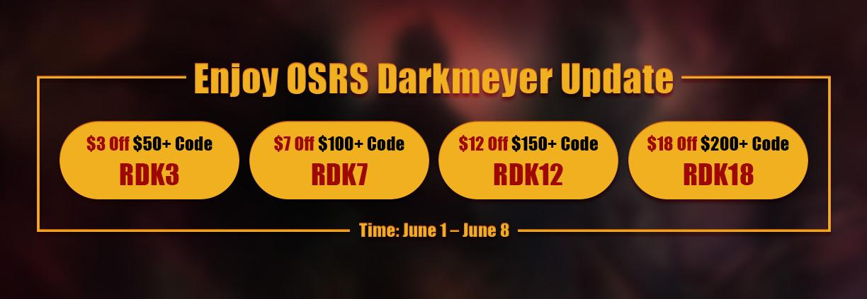 Seize the Last Day to Acquire RSorder Darkmeyer Up to $18 Off for OSRS Gold for Sale