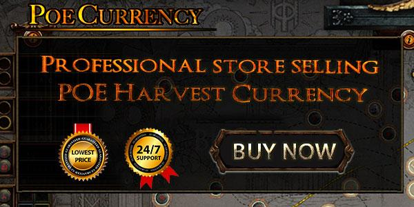 POE Harvest: Different grades of POE currency during sowing